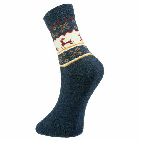 Мужские носки темно-синие ROMEO ROSSI с шерстью 8044-9