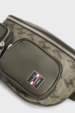 Мужская оливковая поясная сумка ELEVATED MONOGRAM CROSSBODY Tommy Hilfiger