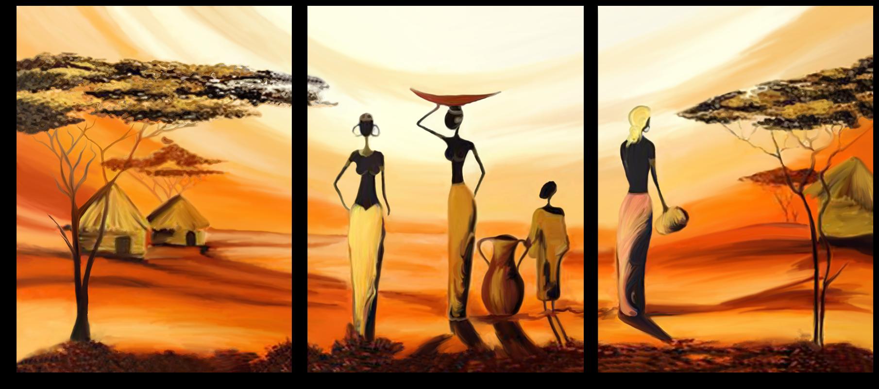 """Природа Модульная картина """"Африканские девушки"""" М458.png"""
