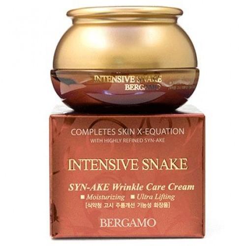 Интенсивный антивозрастной крем для лица BERGAMO INTENSIVE SNAKE SYN-AKE WRINKLE CARE CREAM 50ml