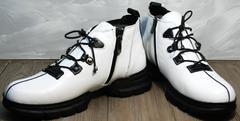 Короткие ботинки на шнуровке Ripka 146White