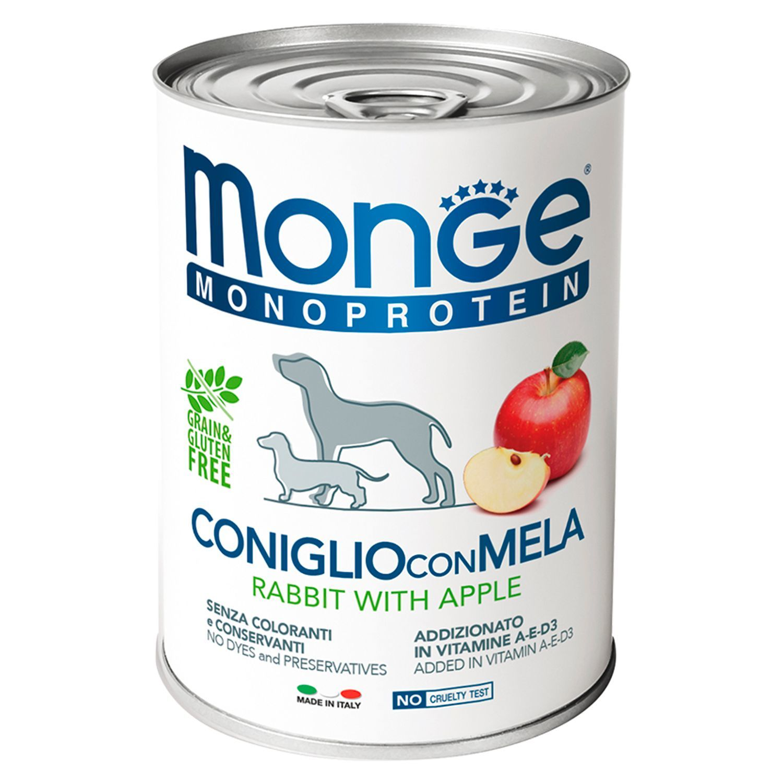 Monge Паштет для собак Monge Dog Monoproteico Fruits монопротеиновый, из кролика с рисом и яблоками 70014328_1.jpeg