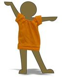 Маленькое трикотажное платье - Демонстрационный образец. Одежда для кукол, пупсов и мягких игрушек.