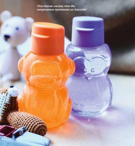 Детская бутылка эко обезьянка и совёнок