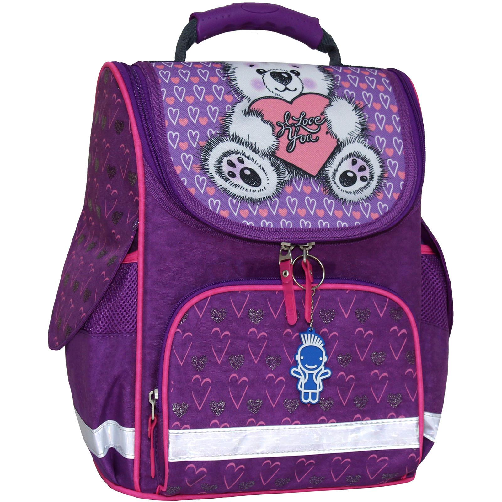 Рюкзак школьный каркасный с фонариками Bagland Успех 12 л. фиолетовый 377 (00551703)