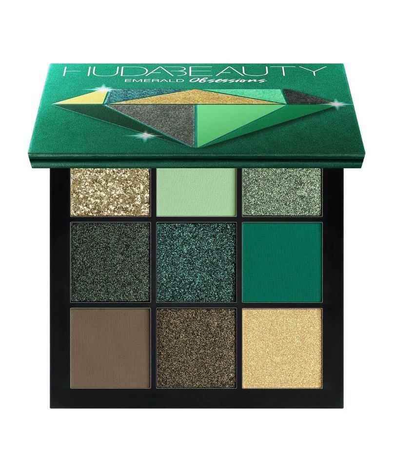 Палетка теней Huda Beauty Emerald Obsessions