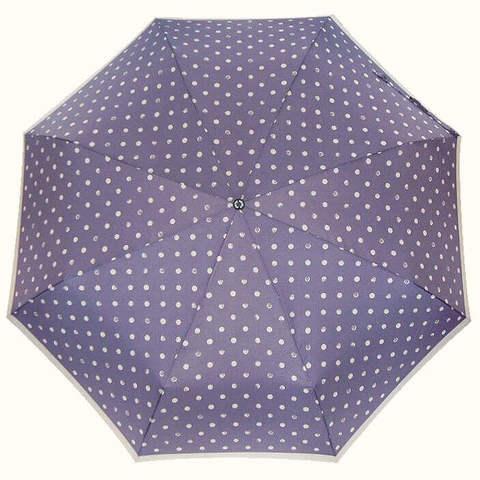 Сиреневый зонтик автомат горошек купить