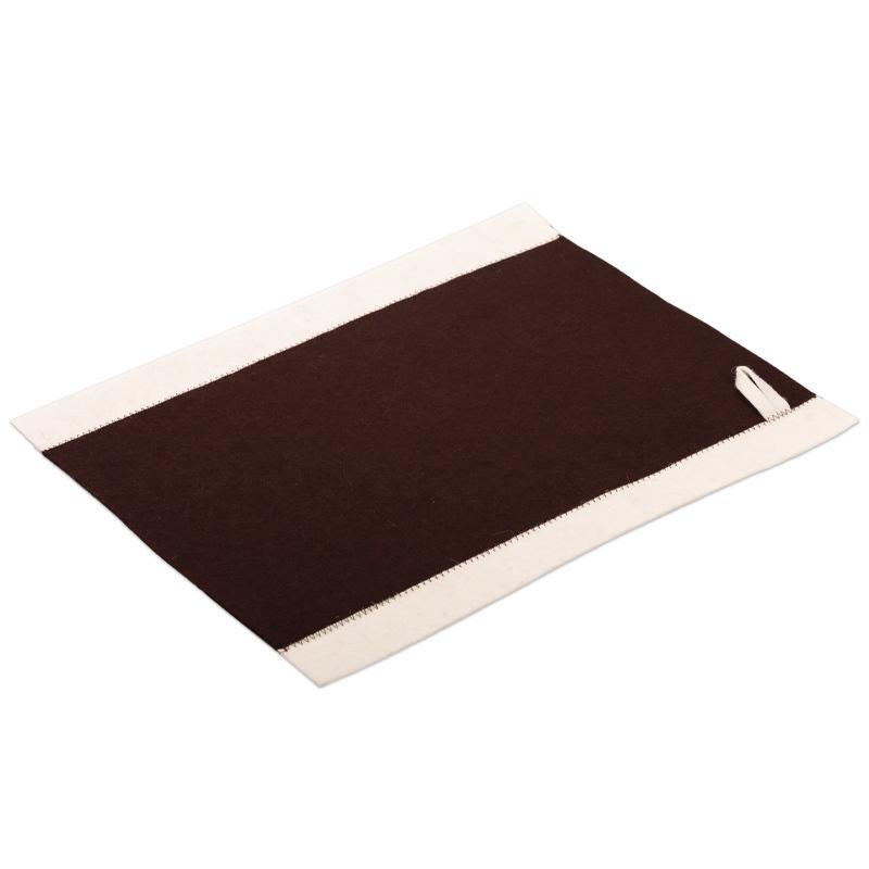 Коврик-сидушка для бани Комби коричневый 40*49 см.