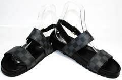 Сандалии для мужчин Louis Vuitton 1008 01Blak.