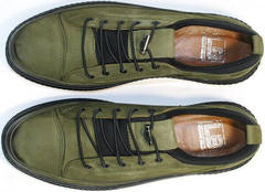 Стильные мужские туфли спортивного типа Luciano Bellini C2801 Nb Khaki.