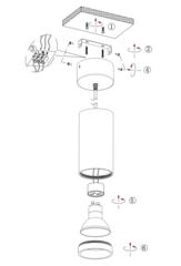 Накладной точечный светильник INL-7013D-01 White