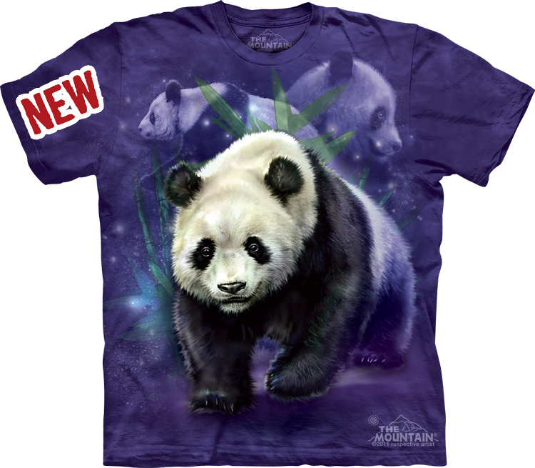 Футболка Mountain с изображением медведей - панд - Panda Collage