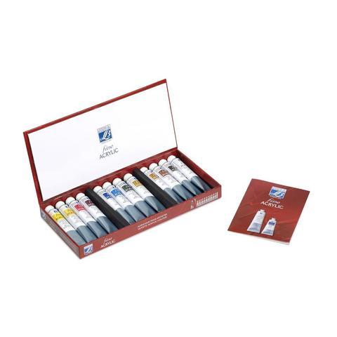 Набор акриловых красок Lefranc&Bourgeois FINE (12 х 20 мл), в картонной коробке