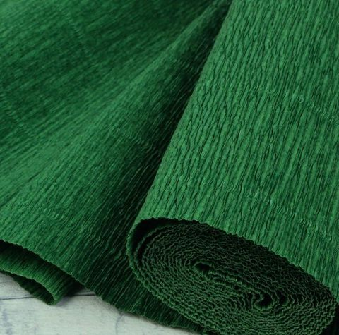 Бумага гофрированная, цвет 991 травяной, 140г, 50х250 см, Cartotecnica Rossi (Италия)