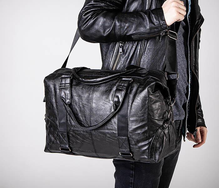 BAG546 Кожаная мужская сумка для поездок