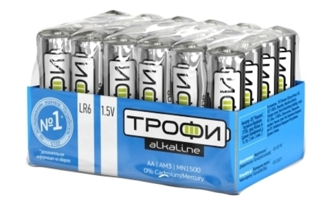 Элемент питания ТРОФИ LR6 к-т 24 bulk