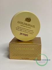 Petitfee Патчи гидрогелевые с золотом и экстрактом улитки - Gold&snail hydrogel eye patch, 60шт
