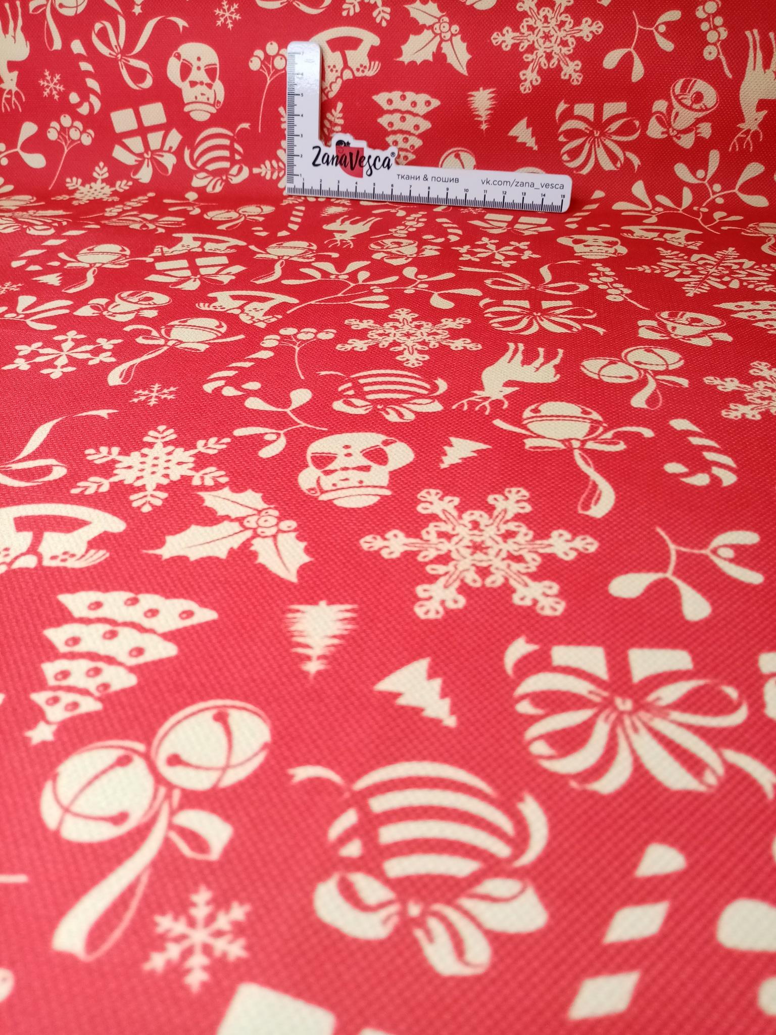 Ткань для скатертей Декософт Новогоднее настроение