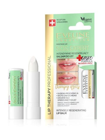 EVELINE Бальзам для губ Интенсивно регенерирующий CARE FORMULA Lip Therapy Professional S.O.S.EXPERT