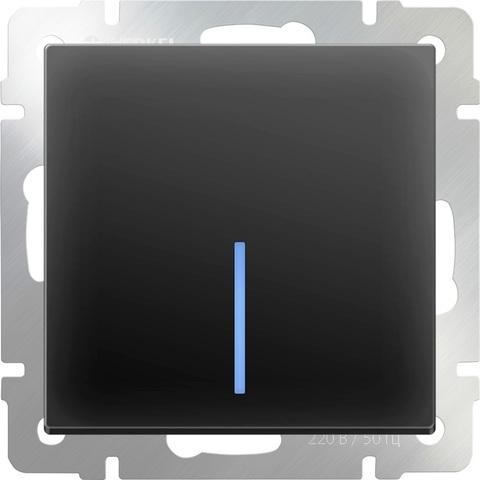 Werkel Выключатель W1110108 (WL08-SW-1G-LED) черный матовый  (1-кл с подсв)