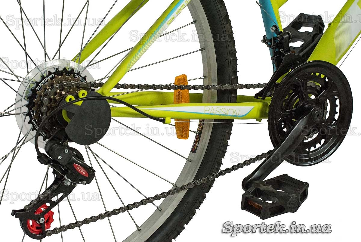 Трансмісія на міському жіночому велосипеді Діскавері Пассіон (Discovery Пассіон)