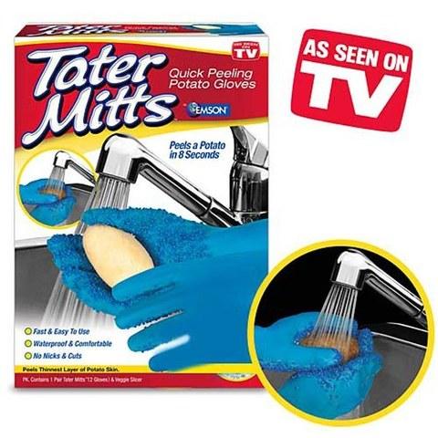 Перчатки Татер Миттс (Tater Mitts) для чистки овощей и картофеля