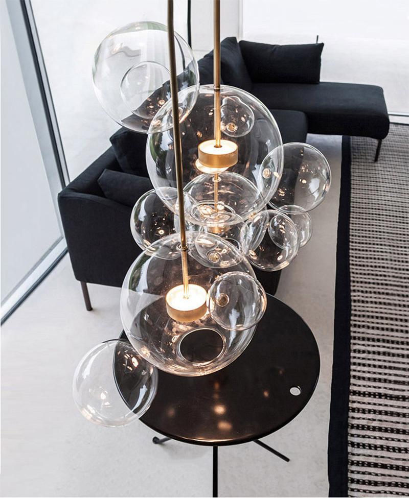 Подвесной светильник копия  Bolle by Giopato & Coombes (6 шаров)