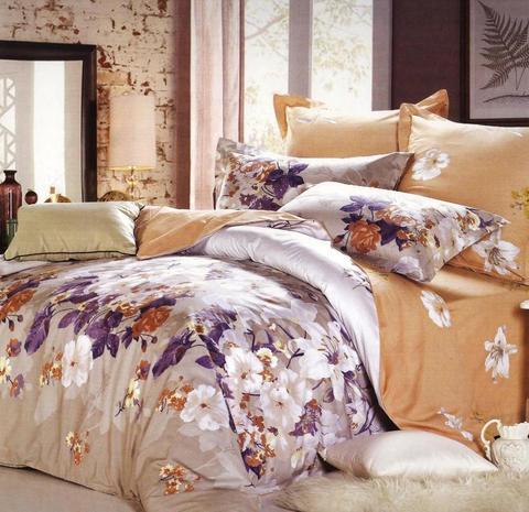Сатиновое постельное бельё  1,5 спальное Сайлид  В-145