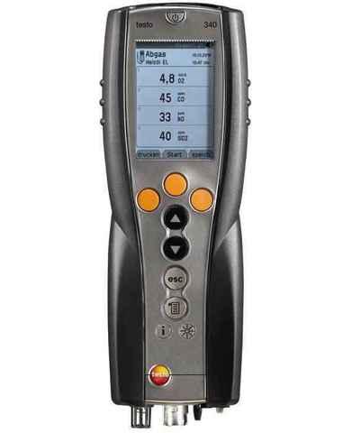 Газоанализатор testo 340 комплект без зонда (O2), Описание портативного газоанализатора testo 340 (арт: 0563 9340)