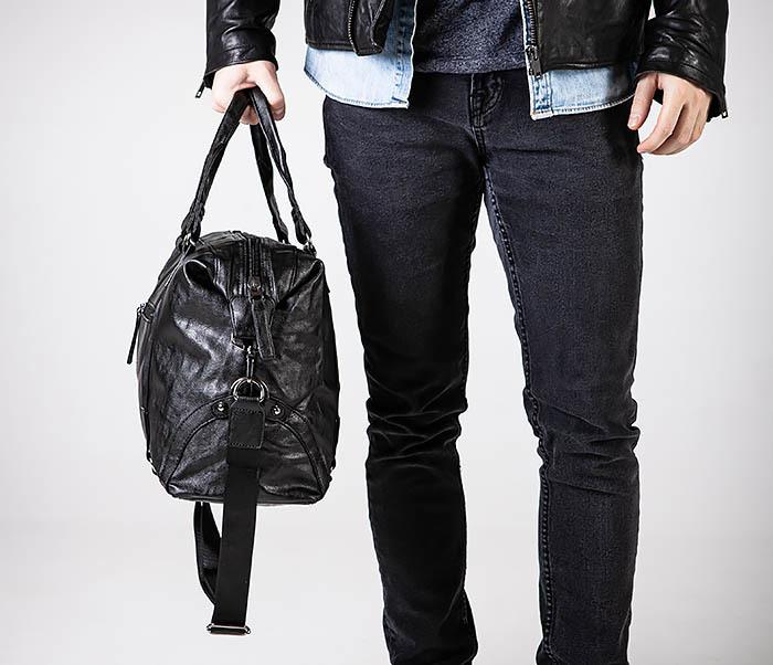 BAG546 Кожаная мужская сумка для поездок фото 02