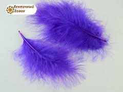 Набор перьев марабу длина 7-17 см фиолетовые
