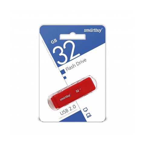 32GB USB-флеш накопитель DOCK SMARTBUY красный