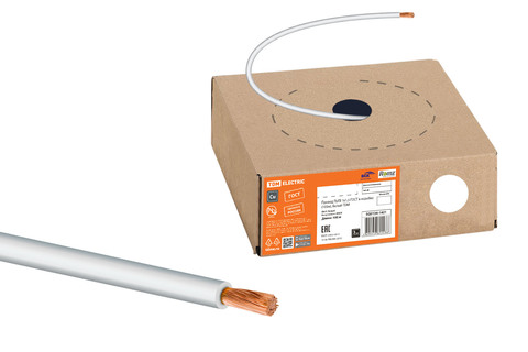 Провод ПуГВ 1х1,5 ГОСТ в коробке (100м), белый TDM