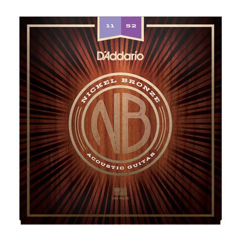 D`ADDARIO NB1152 Nickel Bronze Acoustic, Custom Light, 11-52