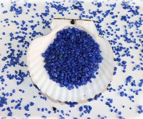Синий грунт декоративный 0,5-1,2 см.