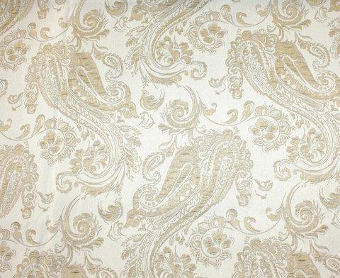 Портьерная ткань жаккард с рисунком Беатрис кремовый