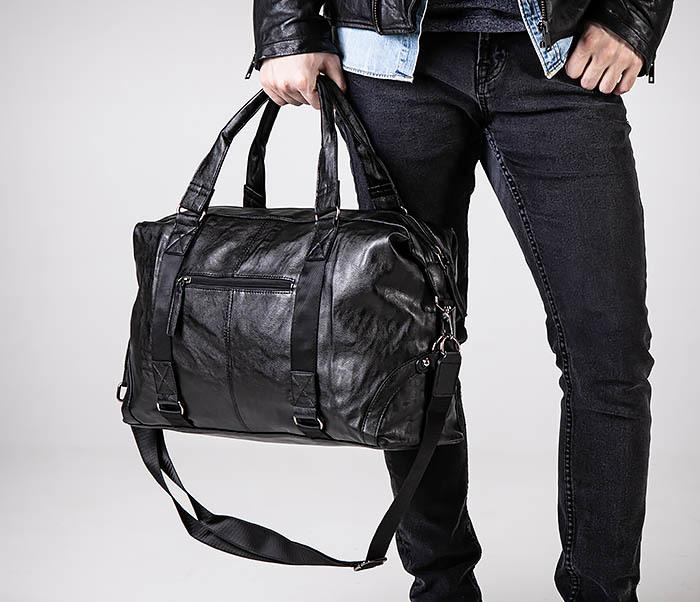 BAG546 Кожаная мужская сумка для поездок фото 03
