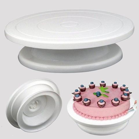 Столик поворотный, подставка для торта D=28см H7 (цвет микс)