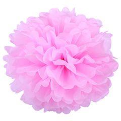 Помпон из бумаги 40 см розовый