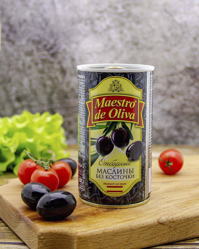 Маслины Maestro de Oliva Отборные без Косточки 360 гр.