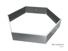 Клумба многоугольная оцинкованная 1 ярус Цинк