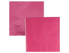 Салфетки фольгированные, Розовый, 33 см, 6 шт, 1 уп.