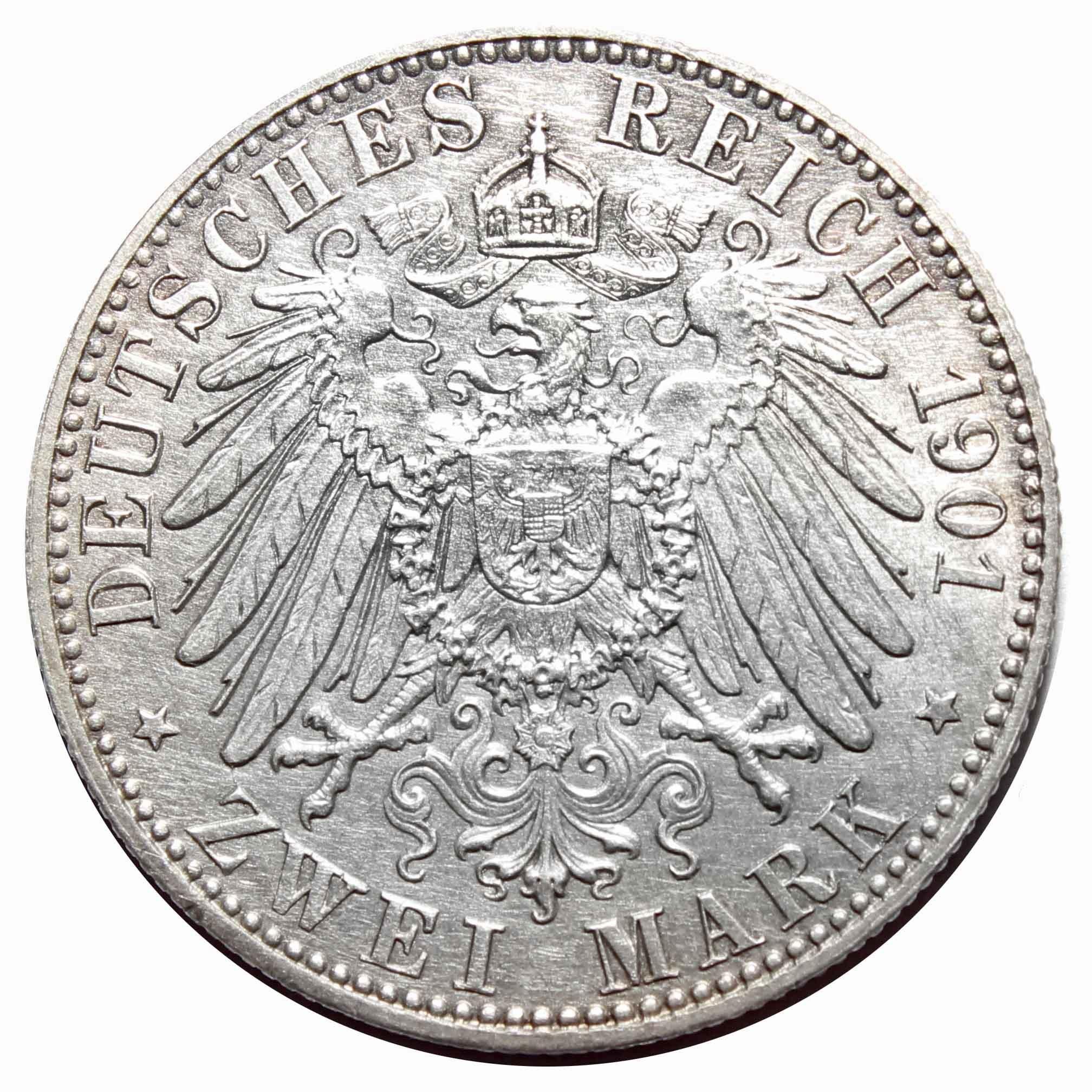 2 марки 1901 Германия-Пруссия (200 лет династии) XF