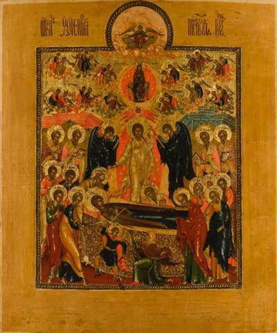 Икона Успение Богородицы на дереве на левкасе мастерская Иконный Дом