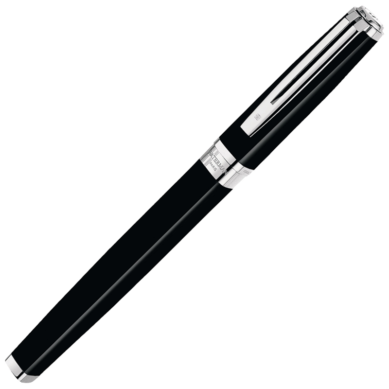 Waterman Exception - Black ST Slim, ручка-роллер, F, BL