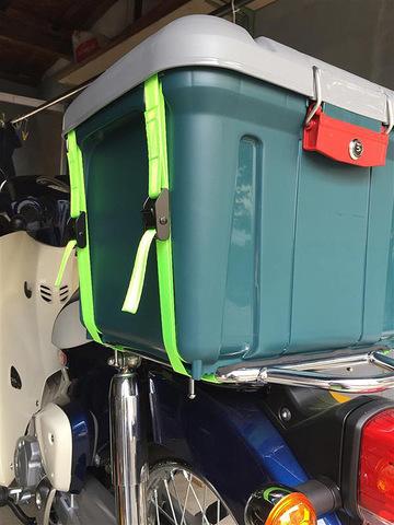 Экспедиционный ящик IRIS RV Box 460, крепление к байку.
