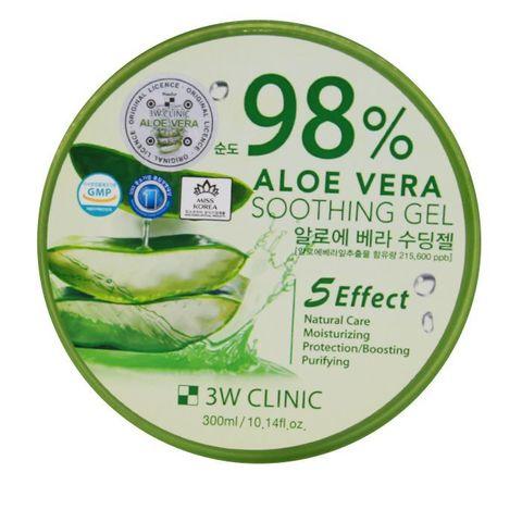 3W Clinic Универсальный гель с алоэ Aloe Vera 98% 300 мл.
