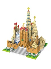 Конструктор Wisehawk & LNO Саграда Фамилия Испания BIG 2741 деталь NO. 2499 Sagrada Familia Gift Series