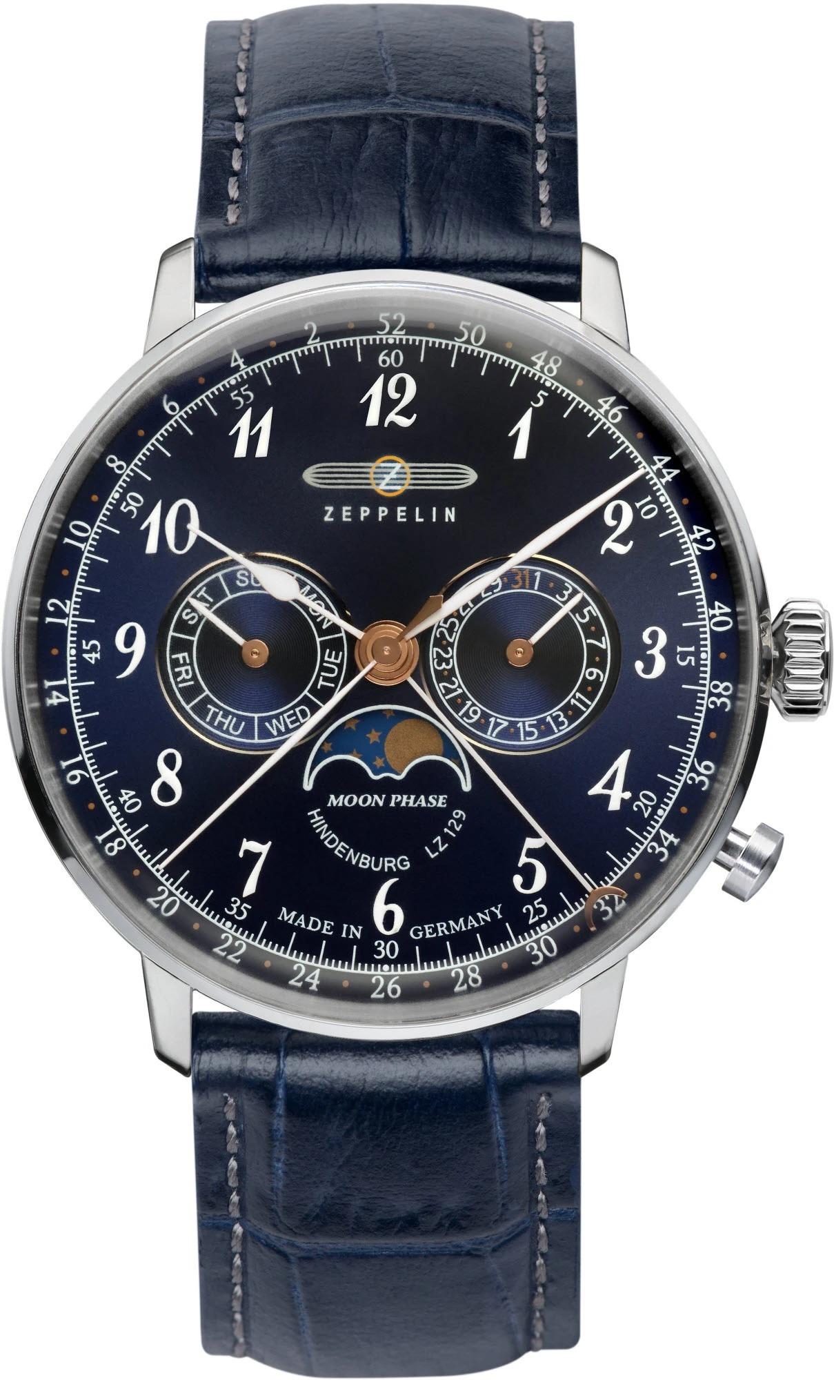 Мужские часы Zeppelin LZ129 Hindenburg Moonphase 70363