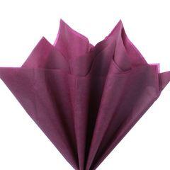 Бумага тишью, Бордовая 76 Х 50 см, 10 листов, 28 г.